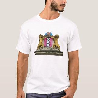 T-tröja för Amsterdam vapensköldvit Tee