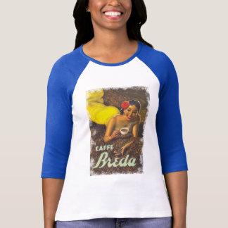 T-tröja för annonsering för vintagekvinnakaffe tee shirts