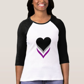 T-tröja för Asexualitypridehjärtor T-shirts