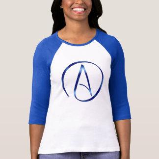 T-tröja för ateismsymbolRaglan T-shirts