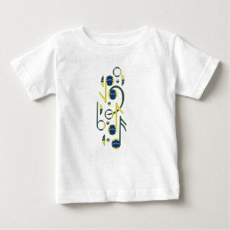 T-tröja för baby för Brasilien flaggamusik noter Tshirts