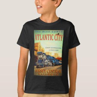 T-tröja för barn för blåttkomettåg tshirts
