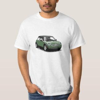 T-tröja för bil för brittisk tävlagrönt modern t shirt