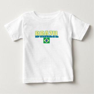 T-tröja för Brasilien flaggaspädbarn Tee