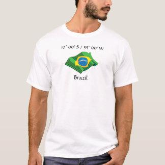 T-tröja för Brasilien landflagga Tshirts