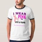 T-tröja för bröstcancermedvetenhetmall t-shirt