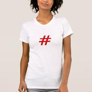 T-tröja för damer Hashtag T-shirt