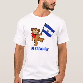 T-tröja för El Salvador nallemörk T Shirts