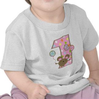 T-tröja för födelsedag för ballongmusrosor 1st