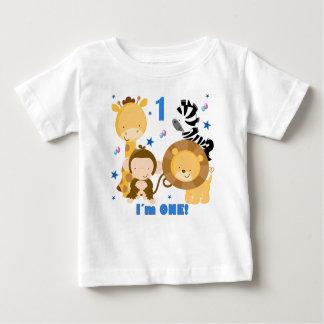 T-tröja för födelsedag för djungelSafari 1st Tee