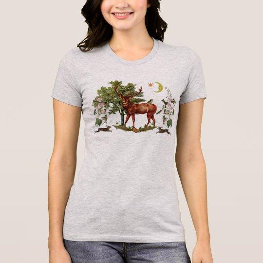 T-tröja för fullvuxen hankronhjortandedjur t shirt
