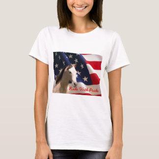 T-tröja för hästamerikanska flaggandamer t shirt