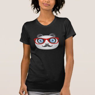 T-tröja för HipsterPandasvart T-shirt