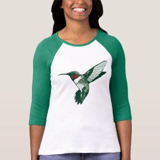 T-tröja för Hummingbird för tecknadRuby Throated Tröja