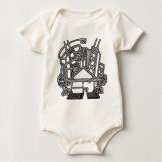 T-tröja för husmusikbebis krypdräkt