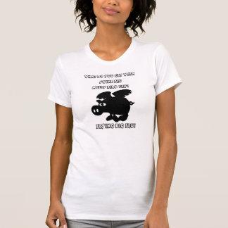"""T-tröja för influensa """"för flyggris"""" Swine T-shirts"""