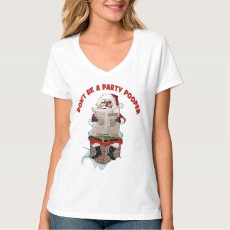 """T-tröja för jul för jultomten""""festsabotör"""" rolig t-shirts"""