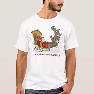 T-tröja för jul för Schmidt hus rolig T-shirts