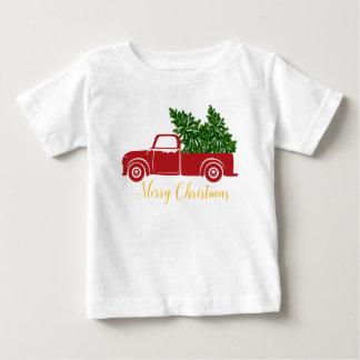 T-tröja för julgranlastbilbaby t-shirt