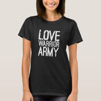 T-tröja för kärlekkrigarearmé tröjor