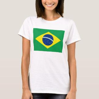 T-tröja för karta för Brasilien flagga x T-shirts
