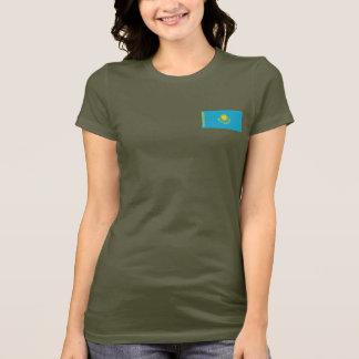 T-tröja för Kasakhstan flagga- och kartadk T Shirt