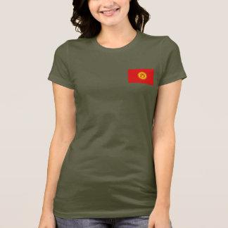 T-tröja för Kirgizistanflagga- och kartadk Tshirts