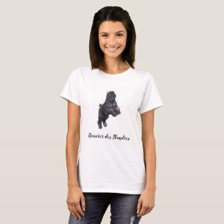 T-tröja för konst för hund för Bouvier des Tröjor