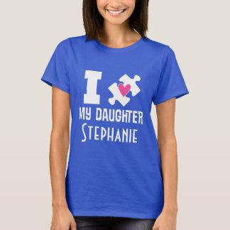 T-tröja för medvetenhet för Autismdotterpersonlig T-shirts