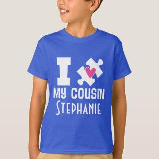 T-tröja för medvetenhet för Autismkusinpersonlig T-shirt