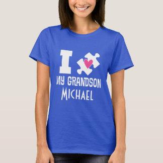 T-tröja för medvetenhet för Autismsonsonpersonlig Tee