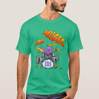 T-tröja för mörk för musikbläckfiskman t-shirt