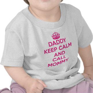 T-tröja för pappabehållalugn (rosor)
