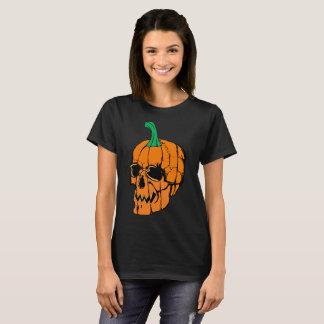 T-tröja för pumpaskalleHalloween kvinnor Tröjor