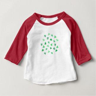 T-tröja för Raglan för klöverlövbaby T Shirt