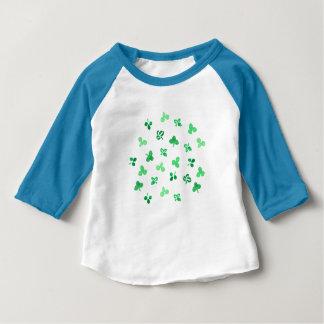 T-tröja för Raglan för klöverlövbaby T-shirts