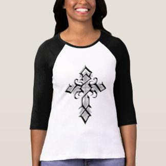 T-tröja för Raglan för sleeve för kor 3/4 för krom Tee Shirt