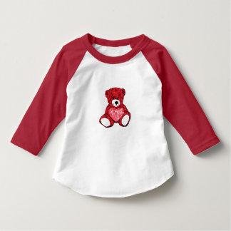 T-tröja för Raglan för sleeve för nallesmåbarn 3/4 Tröja