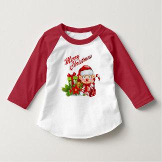 T-tröja för Raglan för sleeve för Santa Tee Shirts