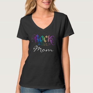 T-tröja för regnbågeRockstar mamma T Shirts