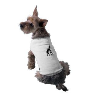 T-tröja för Ringer för Halloween svart kattvovve Långärmad Hundtöja