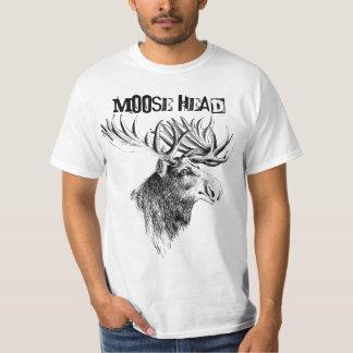 T-tröja för roligt för älghuvudhumor tee shirt
