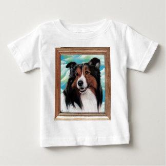 T-tröja för Sheltie målningbaby Tee Shirts