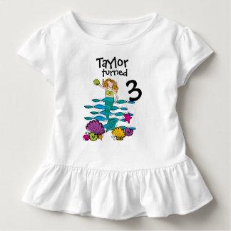 T-tröja för sjöjungfruanpassadefödelsedag t shirt