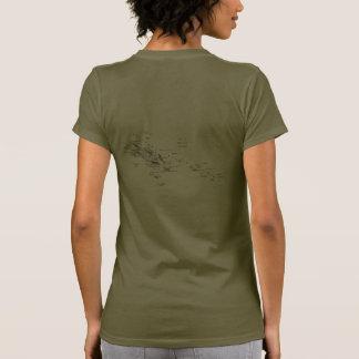 T-tröja för Solomon Island flagga- och kartadk