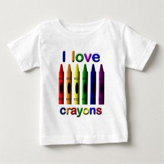 T-tröja för spädbarn för Crayonkärlekkritor Tröja