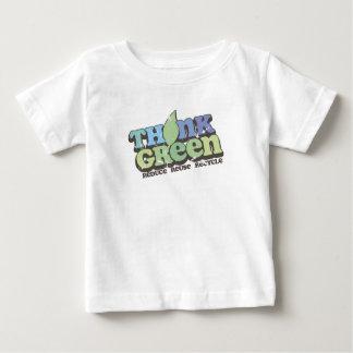 T-tröja för spädbarn för dag för tänkagröntjord t shirt