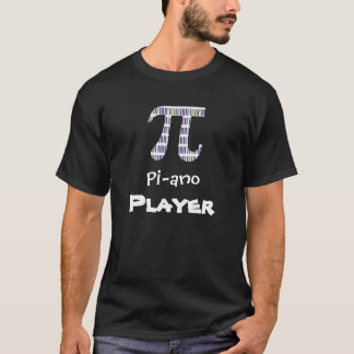 T-tröja för spelare för piano för spelare~ roliga tee shirt