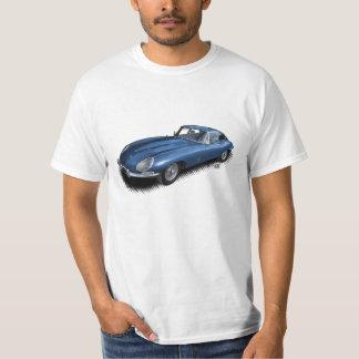 T-tröja för sportbil för vintage för blåttjaguar t-shirts