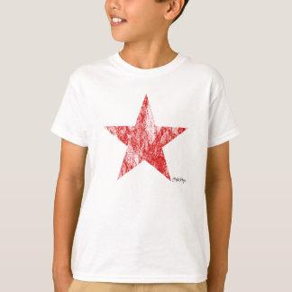 T-tröja för stjärna för CafeRacer röd utformad T-shirt